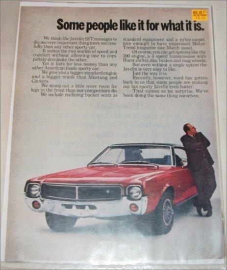 1969 American Motors Javelin car ad
