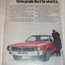 1969 American Motors Javelin car ad