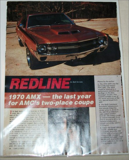 1970 American Motors AMX 5 page Article