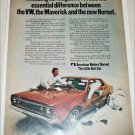 1970 American Motors Hornet 4 dr sedan car ad