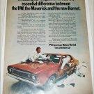 1970 American Motors Hornet 4 dr sedan car ad
