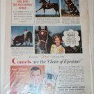 Camel Cigarette ad featuring Bobbie Steele