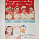 1948 Camel Cigarette ad featuring Jerry Ambler, Cecil Smith and others