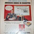 Camel Cigarette ad featuring John Cameron Swayze