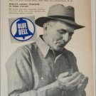 1956 Blue Bell Men's Work Clothes ad