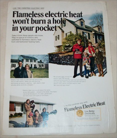1969 Flameless Electric Heat ad