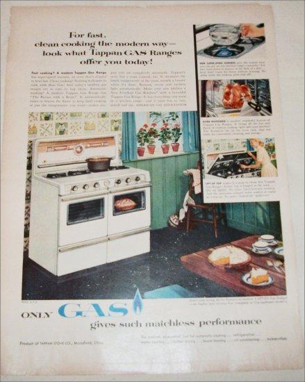 Gas ad featuring Tappan Gas Range