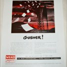 Mead Corporation Gusher ad