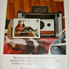 1966 Polaroid Land Automatic 104 Camera Girl in Canoe ad