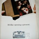 1966 Polaroid Land Automatic 103 Camera Halloween ad