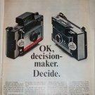 1966 Polaroid Land Automatic 104 & 100 Cameras ad
