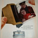 1967 Polaroid Land Automatic 210 Camera Girl & Grandfather ad