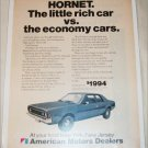 1970 American Motors Hornet 2 dr sedan car ad