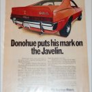 1970 American Motors AMX Mark Donohue car ad
