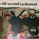 1968 Polaroid Land Automatic 210 Camera Nuns ad #2