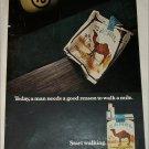 1971 Camel Cigarette Billiard Ball ad