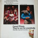 1971 Camel Filters Cigarette Rock Band ad