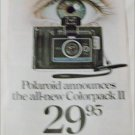 1969 Polaroid Colorpack II Camera ad #2