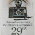 1969 Polaroid Colorpack II Camera ad #2