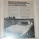1971 American Motors Javelin car ad b&w