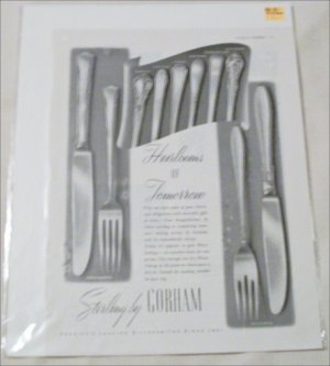 1948 Gorham Silverware Christmas ad