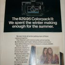 1970 Polaroid Colorpack II Camera Girls ad