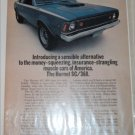 1971 American Motors Hornet SC/360 2 dr sedan car ad