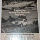 1971 American Motors Jeepster Commando Badlands ad