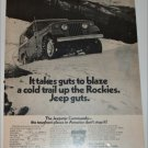 1971 American Motors Jeepster Commando Rockies ad