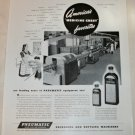 1947 Pneumatic Packaging and Bottling Machinery ad