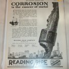 1925 Reading Pipe Company ad
