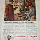 1944 Republic Steel Free Enterprise ad