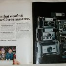 1970 Polaroid Cameras Christmas ad