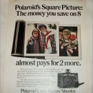 1971 Polaroid Square Shooter Camera Kids ad