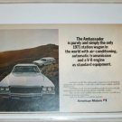 1971 American Motors Ambassador 4 dr stationwagon car ad