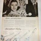 1957 International Sterling Silverware Maid of Honor ad