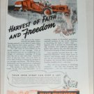 1942 Allis-Chalmers All-Crop Harvester ad
