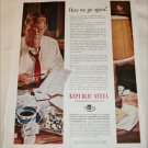 1952 Republic Steel Here We Go Again ad