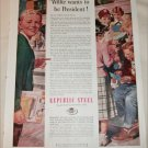 1952 Republic Steel Willie ad