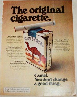 1974 Camel Cigarette ad