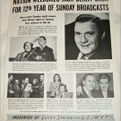 Jack Benny ad