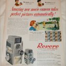 1957 Revere Electric Eye-Matic 8 mm Movie Camera ad