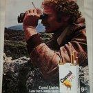 1980 Camel Lights Cigarette Binoculars ad