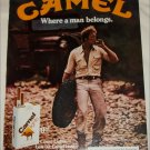 1980 Camel Lights Cigarette Tire ad