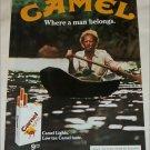 1980 Camel Lights Cigarette Canoe ad