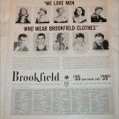 1956 Brookfield Clothing ad