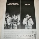 1962 Sylvania Sun Gun Movie Light ad