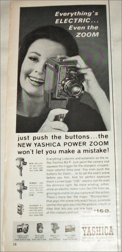 1963 Yashica 8-UP Movie Camera ad