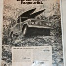 1972 American Motors Jeep Commando Escape Artist ad