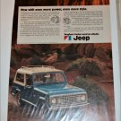 1972 American Motors Jeep Commando ad blue & white